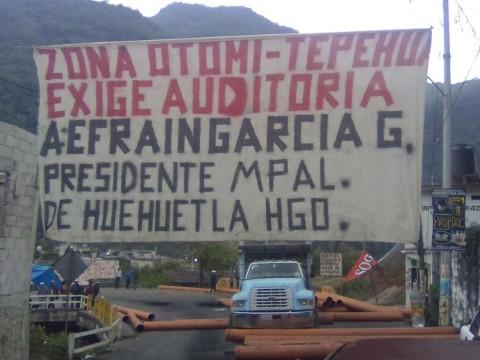protestas de habitantes de Huehuetla