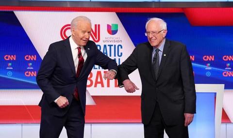 Biden y Sanders disputan más primarias, eclipsadas por pandemia