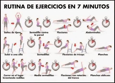 Ejemplo de una rutina simple de ejercicios. (Foto especial)