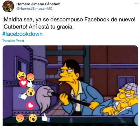 Con memes, usuarios reaccionan a caída de Facebook