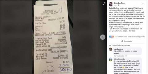 Compró solo una cerveza y dejó $60 mil de propina