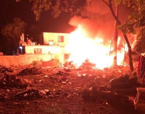 Incendio de la casa del exboxeador
