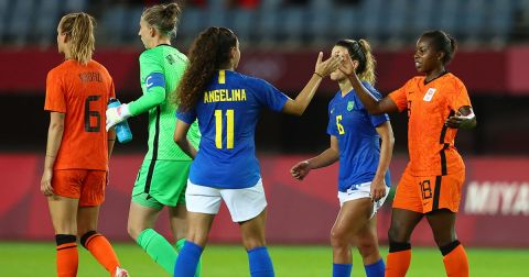 Brasil y Países Bajos hicieron un partidazo que terminó en empate a tres (Foto de Reuters)
