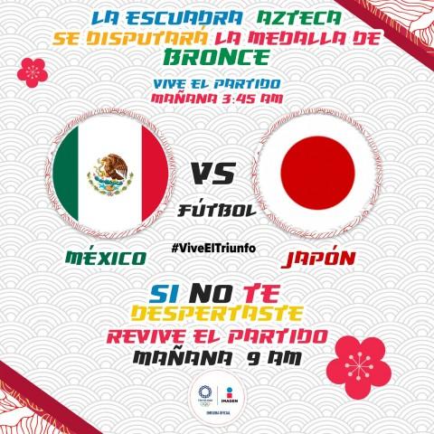 México vs Japón por el bronce en Imagen TV