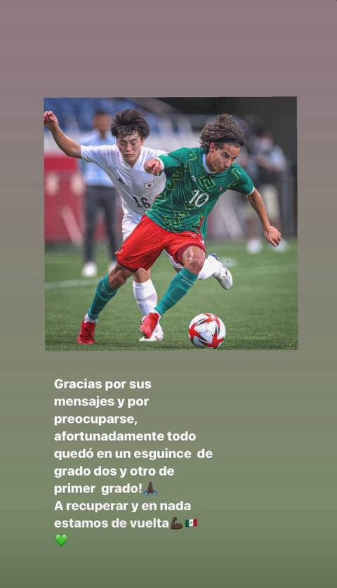 Diego Lainez reveló la gravedad de su lesión (Foto de Instagram @diego_lainez)