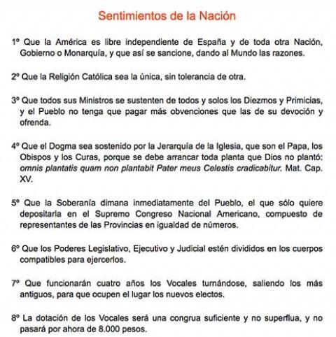 Los Sentimientos De La Nacion Todo Mexicano Los Debe Conocer