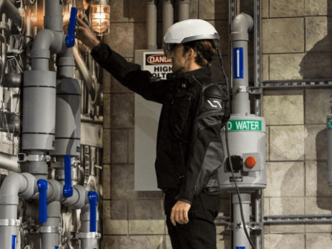 El casco ha sido probado por empresas de Fortune 100 en las industrias aeroespacial, de construcción y petroleras. Foto: Daqri