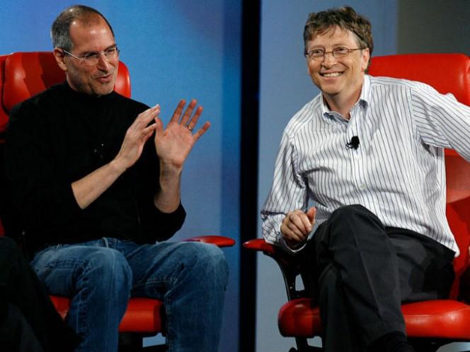 En 1997, el cofundador de Microsoft, Bill Gates, anunció una inversión en Apple por 150 millones de dólares. Foto: Getty