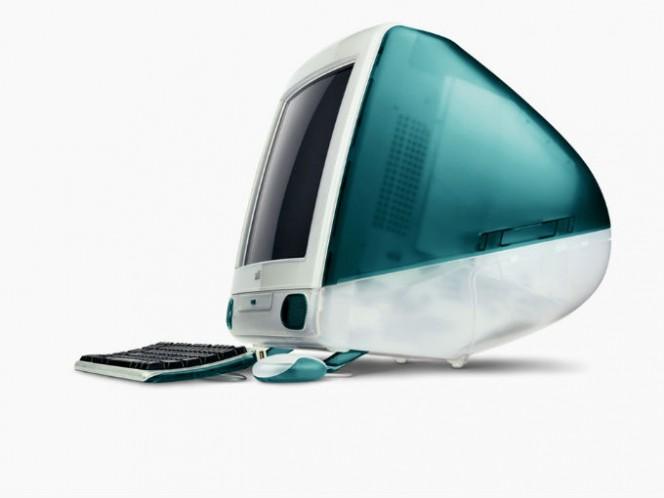 En 1998 se lanzó la primera iMac que integraba en CPU y el monitor en un solo aparato. Su diseño cool y renovado le dio una nueva imagen a la compañía. Foto: Especial