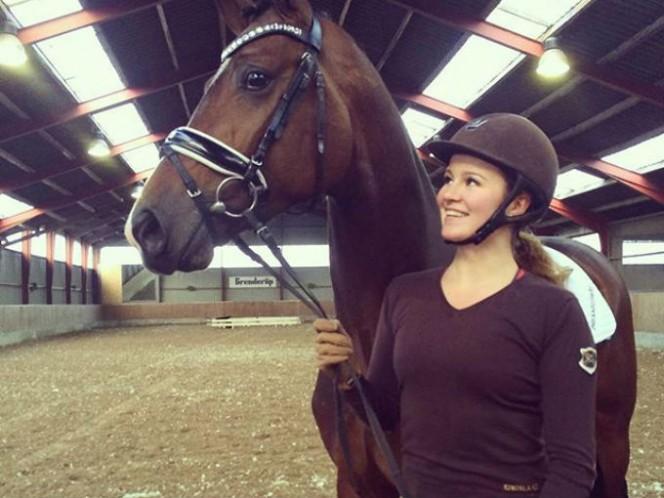 La verdadera pasión de Alexandra es la equitación. Foto: Instagram de alexandraandresen