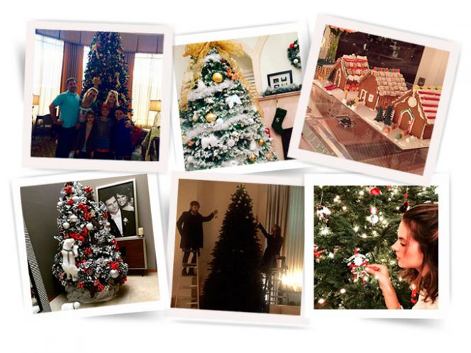 Las decoraciones navideñas de los famosos