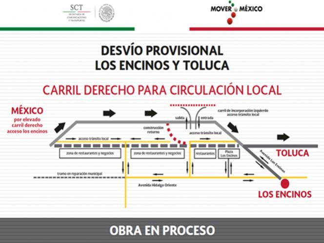 Se construirá la segunda rampa de emergencia y un retorno deprimido Toluca-Toluca.
