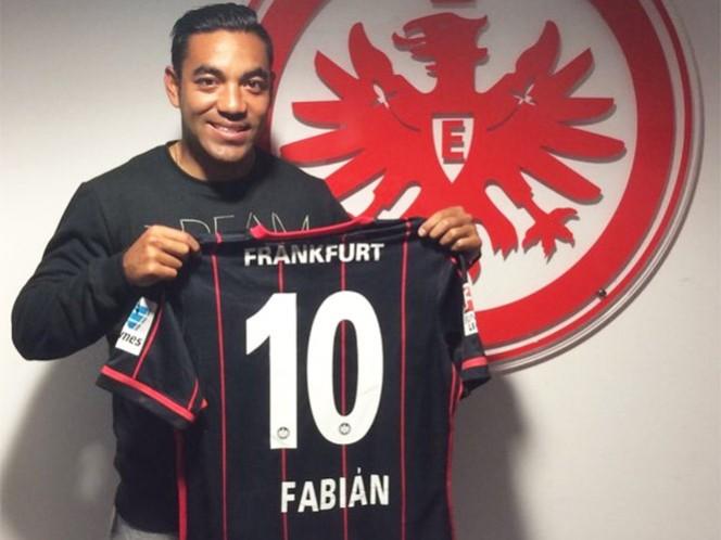 Marco Fabián usará el '10' en el Eintracht Frankfurt (Foto: Cortesía Eintracht Frankfurt)