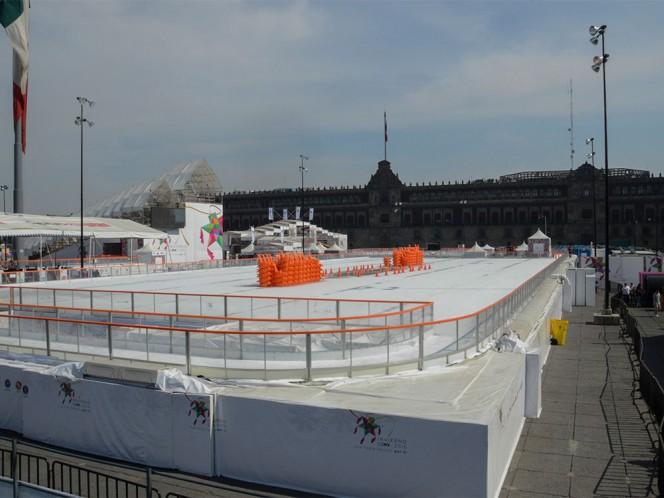 Sin actividades en la pista de hielo del Zócalo debido a la precontingencia.