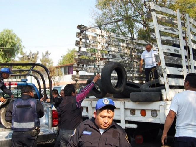 La delegación Iztapalapa y la SSPF realizaron la colecta de llantas de manera coordinada.