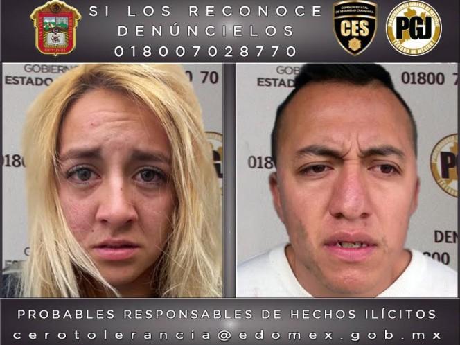 Jimena Moya Saavedra, de 20 años, y Ángel de Jesús Orea Morán, de 27 años de edad, fueron detenidos como probables secuestradores de la mujer y su hijo.