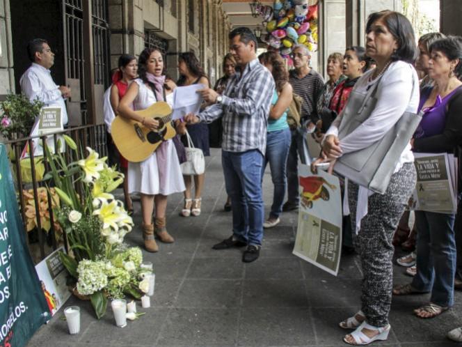 Mientras, en Morelos Integrantes de la Red Observatorio por la Paridad condenaron el asesinato de Gisela Mota Ocampo (Foto: Cuartoscuro)