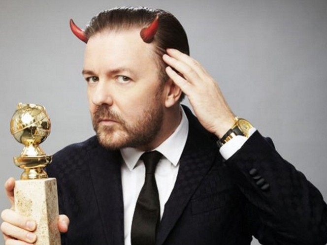 Rick Gervais, el animador de la 73 edición de los Globos de Oro. (Tomada de su Twitter)