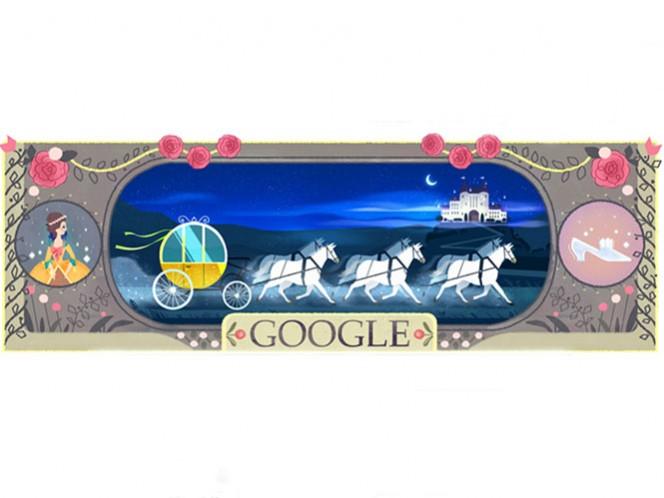 Los doodles muestran algunos de los personajes principales de los cuentos del escritor francés Charles Perrault.