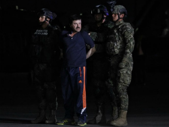 Presentación de Joaquín Guzmán Loera, 'El Chapo' (Foto: Cuartoscuro)