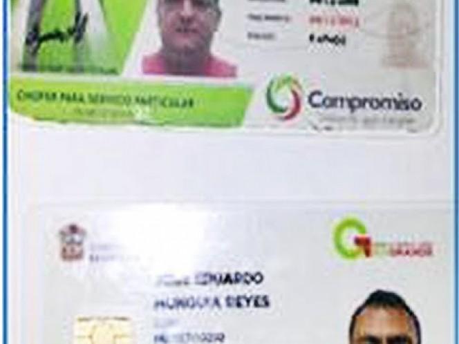 Licencias de conducir de los detenidos.