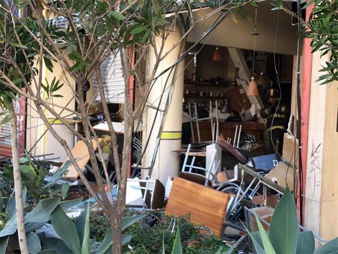 Esta mañana, se registró la explosión en una cafetería ubicada sobre la Avenida Félix Cuevas. Foto: Antonio García