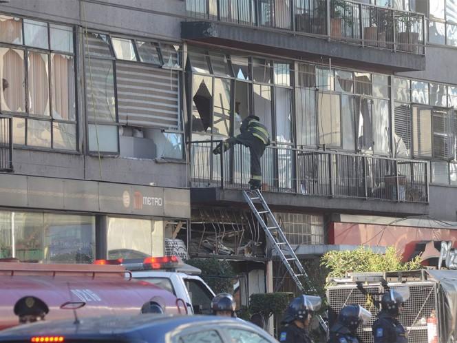 El GDF se encargó de la sustitución de los vidrios afectados por la explosión.