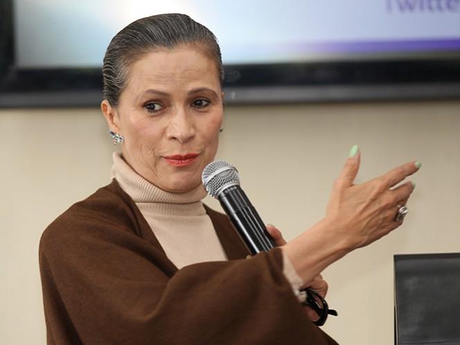 Patricia Reyes Spíndola reconoce que para ella es un gusto poder intercambiar conocimientos con actores jóvenes. (Notimex)