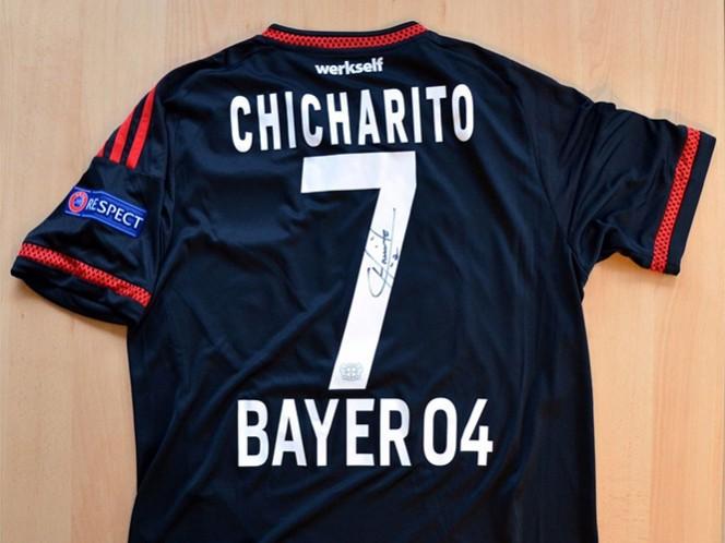 CH14 vistió esa camiseta cuando durante el partido de la fase de grupos de la Champions League frente al FC BATE Borisov. (@bayer04_es)