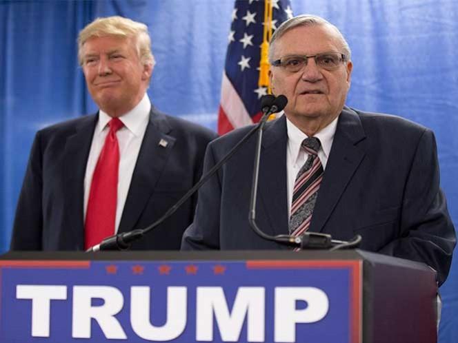 Sheriff Arpaio respalda candidatura de Trump a la presidencia