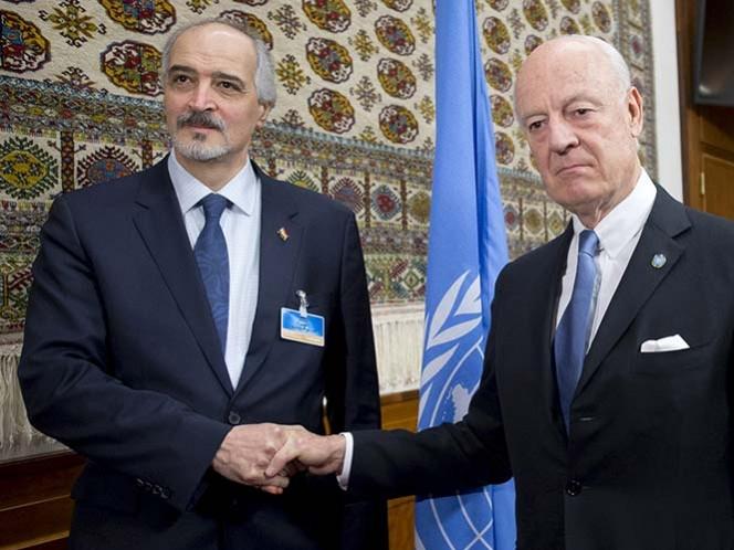 Gobierno de Siria se reúne con enviado de la ONU