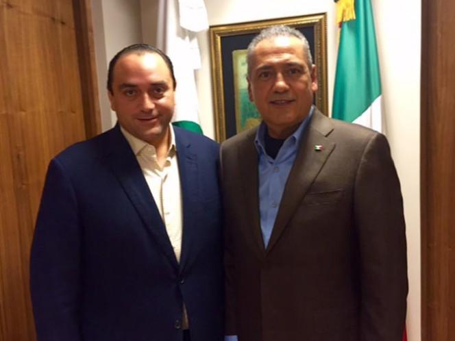 El gobernador de Quintana Roo, Roberto Borge, y el presidente nacional del PRI, Manlio Fabio Beltrones