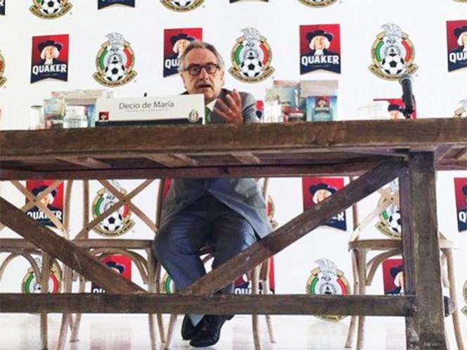 De María le recuerda a Chivas los compromisos del Tricolor (Foto tomada de @miseleccionmx)