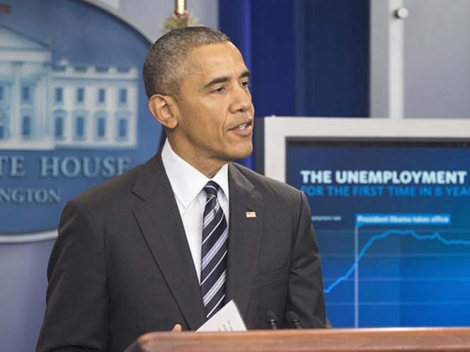 Obama 'presume' que el desempleo en EU es el más bajo en ocho años