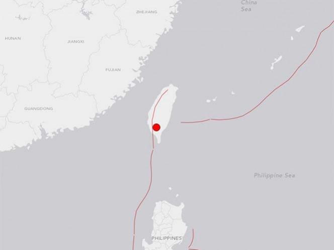 Fuerte temblor de magnitud 6.4 sacude la isla de Taiwán