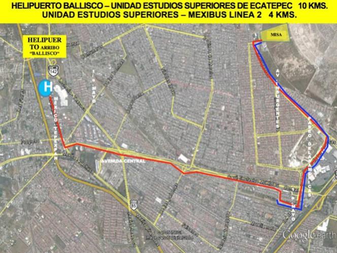 La ruta que recorrerá el papa Francisco, durante su visita a Ecatepec