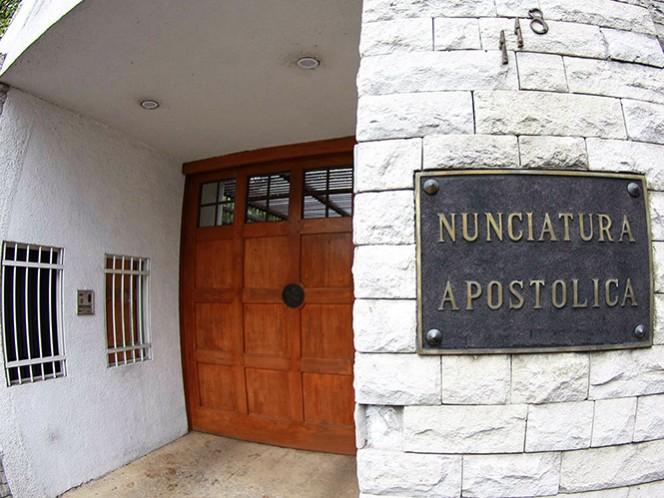 Aspecto de la Nunciatura Apostólica o embajada en México del Vaticano