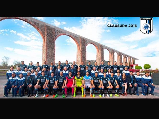 Esta es la foto oficial del Querétaro para el actual Torneo Clausura 2016 de la Liga MX (@Club_Queretaro)