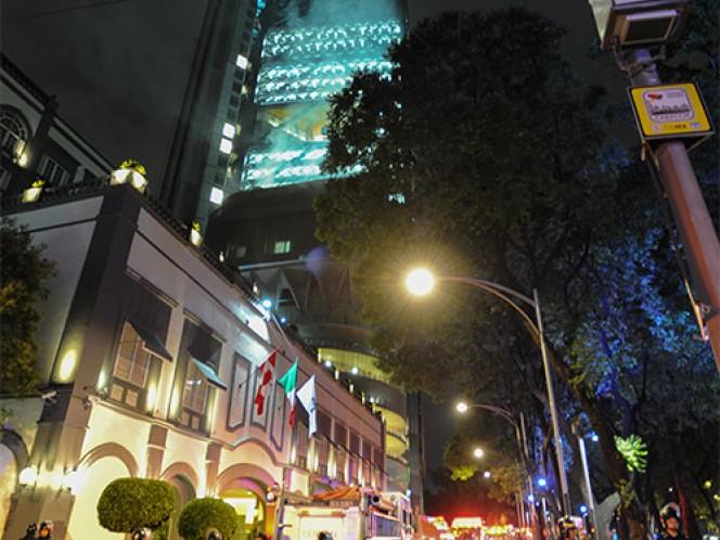 La Torre BBVA Bancomer Reforma alcanza su tope máximo de 53 niveles, de ellos, 50 se ubican por encima del nivel del Paseo de la Reforma. Foto: Cuartoscuro