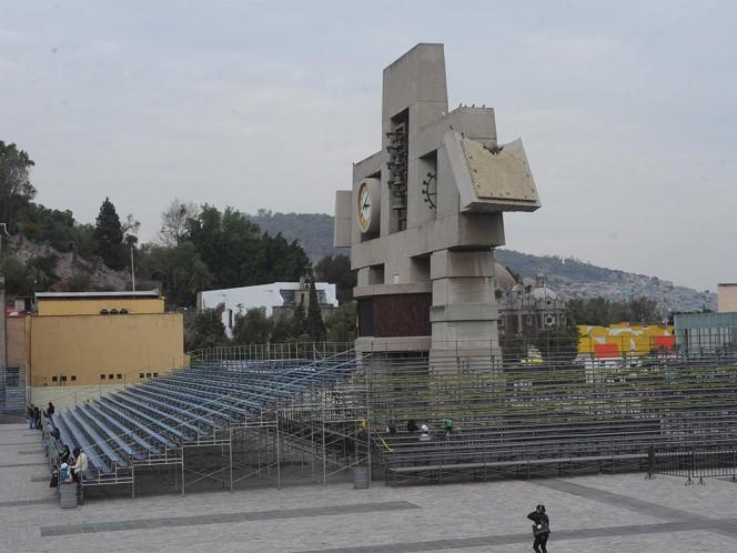 La Basílica se encuentra casi lista para recibir al Papa el próximo sábado 13 de febrero.