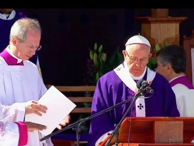 El papa Francisco, durante su homilía