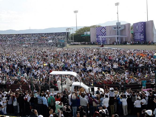 Encuentro del papa con familia en Tuxtla Gutiérrez, en imágenes