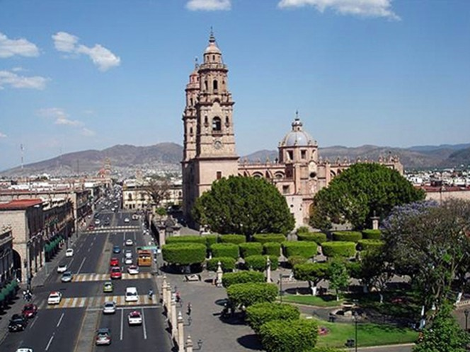 Aspecto de la ciudad de Morelia