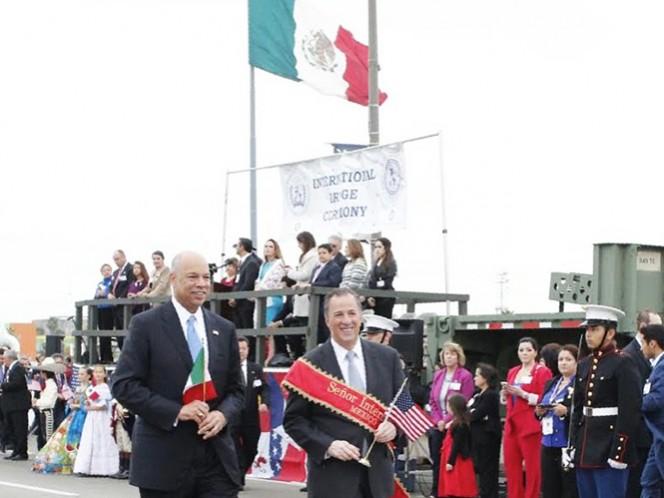 El titular de la Sedesol, José Antonio Meade, participó en la Ceremonia Internacional del Puente, conocida como Ceremonia del Abrazo