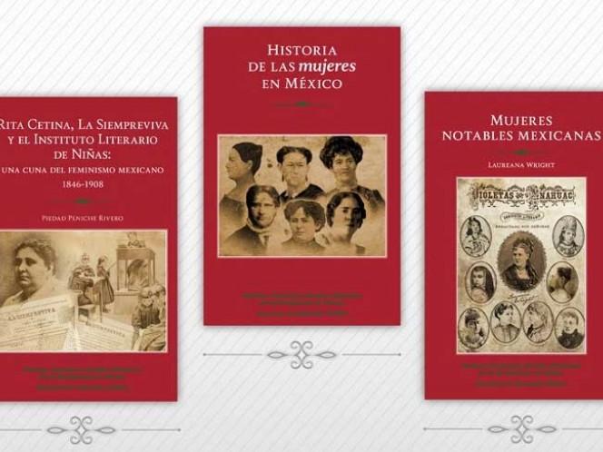 Las investigadoras Piedad Peniche Rivero, Rosa María Valles Ruiz y Lourdes dieron a conocer tres publicaciones en el (INEHRM).
