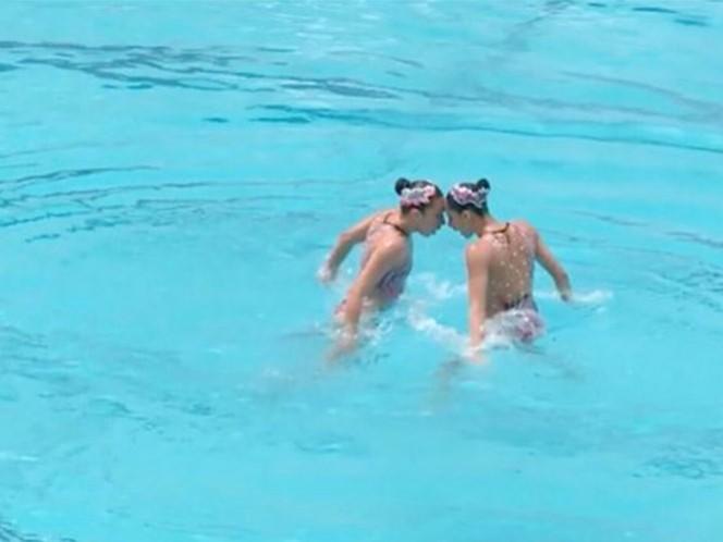 Las mexicanas se adjudicaron uno de los siete lugares en los Juegos Olímpicos que estaban en juego en el Preolímpico de nado sincronizado (Foto tomada de @CONADE)