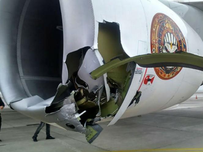 Una de las turbinas del Ed Force One de la banda Iron Maiden quedó bastante dañada