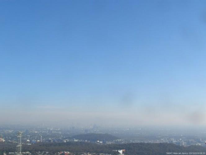 A las 8:20 de la mañana de este domingo, el Sistema de Monitoreo Atmosférico reportaba cielo despejado, con bruma