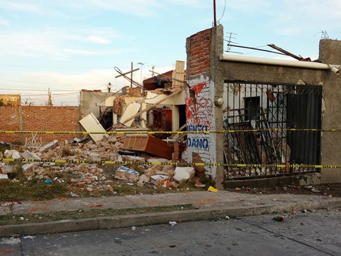 La explosión destruyó el domicilio e increíblemente la dueña sobrevivió, aunque con quemaduras en 80 por ciento del cuerpo