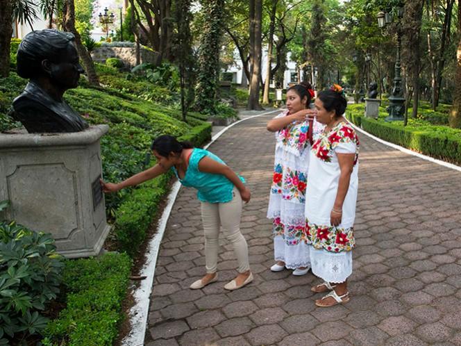 Las tres visitantes recorrieron la casa presidencial